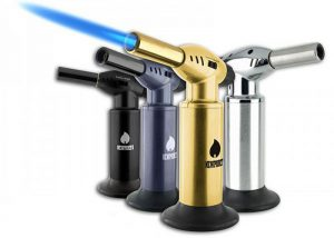 Butane torches in assorted colors by Newport Butane